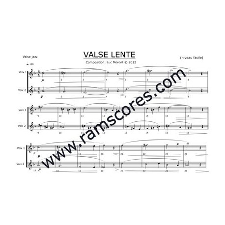 VALSE LENTE (easy)